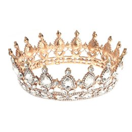 Bling Party Decorations Australia - Crystal Queen Tiara Glittering Jewelries Decoration Vintage Crystal Rhinestone Bridal Crown Bling for Wedding Engagement C18110901