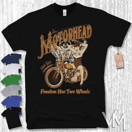 41693ce46 T-Shirt - Biker pin-up - motorcycle Motorrad chopper bike oldschool s m l  xl xxl XXXL Mans Unique Cotton Short Sleeves O-Neck T Shirt