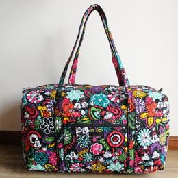 Vb Cotton Fabrics Canada - VB Cartoon Mouse Travel Cotton Duffel Bag Capacity travel bags duffel carry on luggage keepall