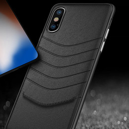 Scratch Resistant Coating Australia - New For iPhone X 8 7 6s case Luxury Leather High Quality Thin Scratch Resistant Dual Coating Light Superior Coating PC Cover