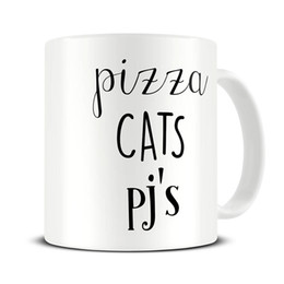 Girlfriends Gift Cat Australia - Best Friend Coffee Mug - Pizza Cats PJ's Funny Mug -Girlfriend Gift - Housewarming Gift - 11oz Coffee Cup