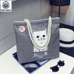 $enCountryForm.capitalKeyWord Australia - INHO CHANCY Women Shoulder Bag Waterproof Canvas Casual Tote Bag Print Cute Animal Multi-function reusable shopping Bolsas