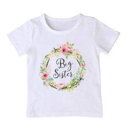 Big Little Shirts Australia - Pudcooco Baby Kid Girl Little Big Sister Cotton Clothes Jumpsuit Romper Outfits T Shirt New Hot Fashion