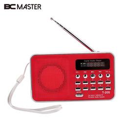 Mini Portable Speaker Sd Slot UK - BCMaster Portable FM Radio SD TF Micro SD Card Slot USB AUX In Speaker Digital Multimedia Music Loudspeaker FM Radio Mini Red