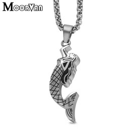 $enCountryForm.capitalKeyWord NZ - Moorvan New stainless steel Fairy Tale Necklace Fashion small Accessories Mermaid Pendants Women Design Necklace Gift VP524