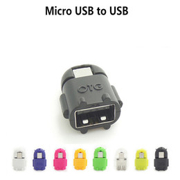 smartphone robot 2021 - 1000pcs OTG Adapter Cartoon Robot Micro USB to USB Cable for Universal Android Smartphone and Tablet PC Mouse Keyboard with OTG