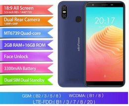 "Ulefone Mobile Canada - Original Ulefone S9 Pro 4G Mobile Phone Android 8.1 2GB+16GB MTK6739 Quad Core Smartphone Dual Rear Camera 5.5"" HD Cell Phone"