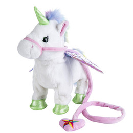 8b3f53bc913 Electric Walking Unicorn Plush Doll Toys Stuffed Animal little horse Toy  Electronic Music Singing pony Toy for Chinldren Christmas Gift sale
