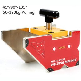 Angle Clamps Australia - Multi-angle Magnet Welding Clamp 60-120kg Holding On Off Control Magnetic Force Welding Holder with Switch Heavy Duty MWC6