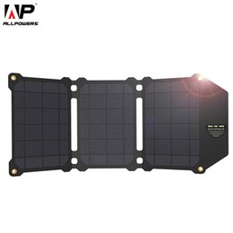 $enCountryForm.capitalKeyWord NZ - ALLPOWERS 21W Solar Panel Solar Cells Dual USB Solar Charger Batteries Phone Charging for Sony iPhone 4 5 6 6s 7 8 X Plus iPad