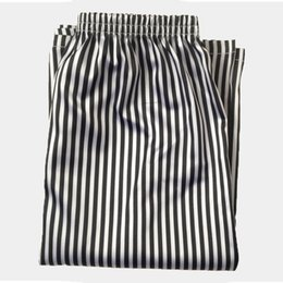 ab2215c18b79 Loose Casual Men Sleep Bottom Boxers Pajama Shorts Elastic Waist Stripe  Print Joggers 3XL Short Underpants Breathe Lounge Summer