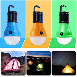 Dimmable Energy Saving Bulbs Australia - Portable Outdoor Camping Fishing Lights 3 LED Dimmable Outdoor Tent Lamp Campsite Hanging Lamp Bulb Energy-saving V8 Bulb