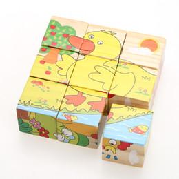 Jigsaw puzzle board children online shopping - 3D Wooden Six Sides Jigsaw Puzzle Cartoon Puzzle Animal Tangram Board Children Kids Educational Developmental Toy