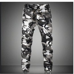 Discount mens military cargo camouflage pants Active M -5x Mens Jogger Autumn Pencil Harem Pants Men Camouflage Military Pants Loose Comfortable Cargo Trousers Camo J
