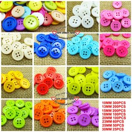 Kids Craft Mixed Canada - 200PCS 4hole 15mm mixed plastic button for KIDS clothes fits jewelry craft P-088