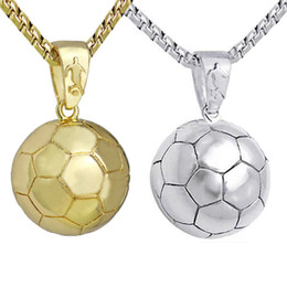 Brass electroplating online shopping - Men s Football Pendant Electroplated Brass Sports New Necklace Europe and America Sports Series Trinkets Spot