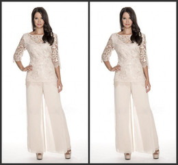 $enCountryForm.capitalKeyWord Canada - High Quality Lace Mother Of The Bride Pant Suits Sheer Bateau Neck Wedding Guest Dress Two Pieces Plus Size Chiffon Mothers Groom Dresses