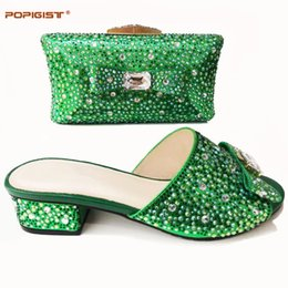 $enCountryForm.capitalKeyWord NZ - Green Color New African Matching Shoes and Bag Italian In Women Nigerian Party Shoe and Bag Set Women Shoes and Bag Set Italy