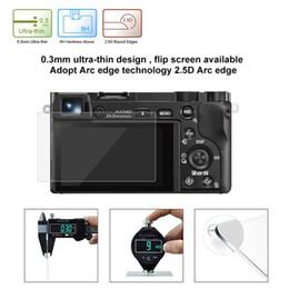 Venta al por mayor de Película de cristal templada ultra clara del protector de la pantalla del Anti-scratch 9H para la cámara de SONY A6000 A6300 A5000