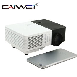Discount kid video cartoon - CAIWEI Portable Mini LED Projector 1080p HD 100LM Outdoor Home Cinema Theater Movie TV Cartoon Video Game LCD Beamer for