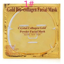 Collagen Facial Crystal Face Mask Australia - DHL free Gold Bio Collagen Facial Mask Face Mask Crystal Gold Powder Collagen Facial Mask Sheets Moisturizing Beauty Skin Care Products