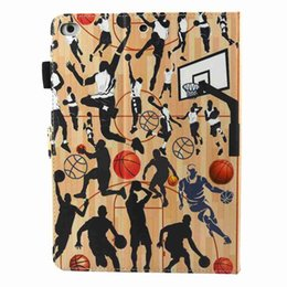 Apple Pen For Ipad Canada - PU Leather Cover For Apple ipad air air 2 2017 2018 9.7 Tablet Cover Colour Cartoon Case Smart Stand Cover Funda+Stylus Pen+Film
