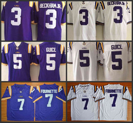 NCAA LSU Tigers jersey Hot Sell Jersey 3 Odell Beckham Jr. 7 Leonard  Fournette 5 Derrius Guice Purple White College Adul jerseys stitched 74fababa4
