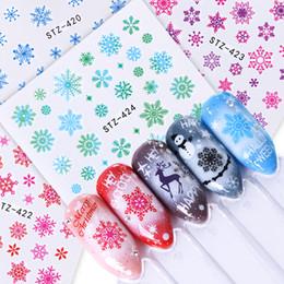 $enCountryForm.capitalKeyWord NZ - 1pcs Water Decals Nails Wraps Snowflake Snowman Winter Full Adhesive Transfer Slider Nail Water Sticker Decor Manicure BED STZ