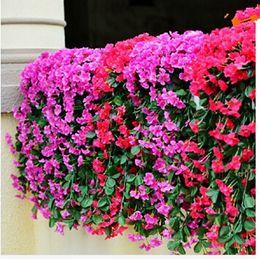 $enCountryForm.capitalKeyWord Australia - Artificial flower Wisteria basket hanging wedding decorations flowers violet simulation flower vine Ratta Silk Hanging Flower Plant