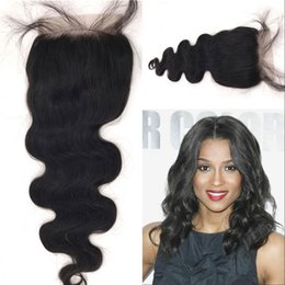 5x5 lace closure bleached knot Australia - Body Wave 5x5 Lace Closure with Baby Hair Malaysian Human Hair with Bleached Knots Free Part FDSHINE
