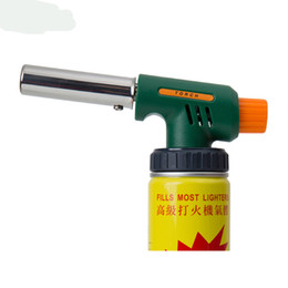 Wholesale torch lighter High powered temperature Refillable barbecue butane jet flame Handy Ignitor Welding Gas iron for baking, BBQ, cooking, brulee, creme