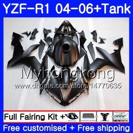 $enCountryForm.capitalKeyWord Australia - Matte black glossy Body+Tank For YAMAHA YZF R 1 YZF-1000 YZF 1000 YZFR1 04 05 06 232HM.16 YZF1000 YZF-R1 04 06 YZF R1 2004 2005 2006 Fairing