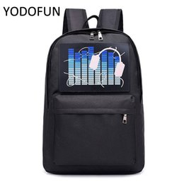$enCountryForm.capitalKeyWord NZ - Multifunction Crossbody Bags Intelligent Voice Control Cool Pack Trip Luminous Backpack Bag Water Repellent Fashion Travel Bag
