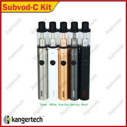 Discount authentic kangertech subvod starter kit Authentic Kangertech SUBVOD-C Starter Kit with 2.8ml Kanger Subtank Nano-C Tank and 1300mAh SUBVOD Battery DHL Free