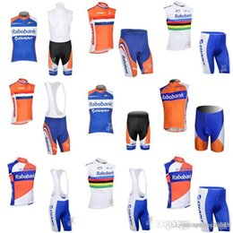 RABOBANK team Cycling Sleeveless jersey Vest (bib)shorts sets Summer Quick  Dry Bike Set Ropa Ciclismo multiple choices c2317 3fce5bdf3