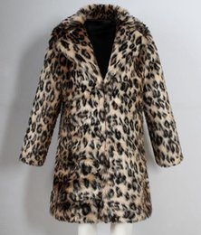 Mens Parka Leather Australia - Mens Leopard Fur Coat Winter Outwear Thick Coat Men Casual Parka Jackets Long Leather Warm Overcoats Genuine Fur Brand Clothing
