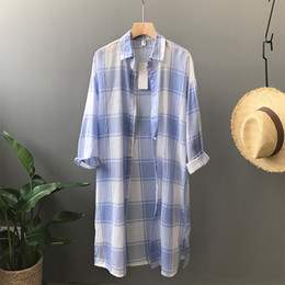 Shirt Poncho Australia - 2018 Sale Poncho Women Sweaters And 2018] Summer New Lightweight Sunscreen Bf, Long Cotton Shirt In The Wind, Female Xia 3008.