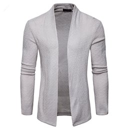 China AIOPESON New Spring Autumn Solid Color Fashion Cardigan Long Sleeve Men Sweaters Turn-down Collar Men Clothes supplier men s white wool cardigan suppliers