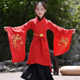 $enCountryForm.capitalKeyWord NZ - Classical Children's Ancient Tang Dynasty Princess Hanfu Dress for Girls Traditional Folk Costume Cosplay Stage Performance Wear