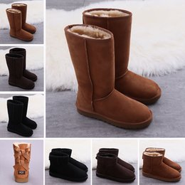 ec4796201a9 Brown knee high lace up Boots online shopping - Top Quality WGG Real  Leather Suede Australia