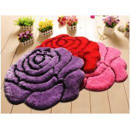$enCountryForm.capitalKeyWord NZ - Vivid Color 3D Flower Design Bedroom Carpet Bath Mat Non-Slip Badmat Doorway Rugs Floor Mat Large Bathroom Rugs tapete banheiro Decoration