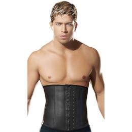 5de3691f95 Male Slim Belt Waist Trainer Corsets For Men Compression Garment Waist  Shaper Latex Waist Cincher Slimming Belt Men Body Shaper