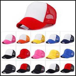 89bd2e624618f 12 Colors Adult Mesh Caps Summer Plain Trucker Mesh Hat Snapback Blank  Baseball Cap Casual Ball Caps Can Adjustable Size CCA9119 50pcs