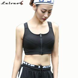 f93330d676 Discount plus size running bra - 5XL Plus Size Women Sports Bra Running  Front Zipper Movement
