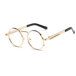 77239f14ba Discount steampunk eyeglass frames - Hot New Design Steampunk Sunglasses  Men Round Sunglasses Women Metal Frame