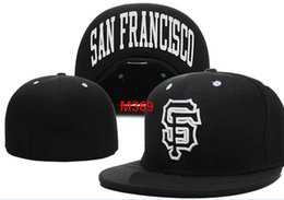 598e304d7befa Giants SF Team Fitted hats Baseball Embroidered Team Letter Flat Brim Hats  Baseball Size Caps Brands Sports Chapeu for men and women