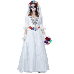 $enCountryForm.capitalKeyWord UK - Free shipping horrible costume Women Zombie Bride Halloween Costume devil Party Dress white bride Costumes 40079
