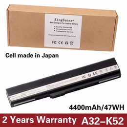 Wholesale KingSener New A32-K52 Laptop Battery for ASUS A52F A52J K52 K52D K52DR K52F K52J K52JC K52JE K52N X52J A41-K52 A31-K52 A42-K52
