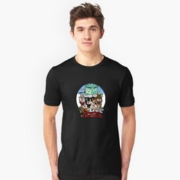 Absorbent Cotton Australia - Adventure Time-Lords New round neck loose casual fashion printing cotton breathable sweat-absorbent home men's T-shirt