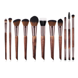 $enCountryForm.capitalKeyWord UK - Zouyesan Free Shipping 2019 new 11 makeup brush set wooden handle high-end beauty tools